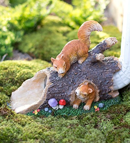 Whimsical Playful Squirrels Decorative Downspout Gutter C...