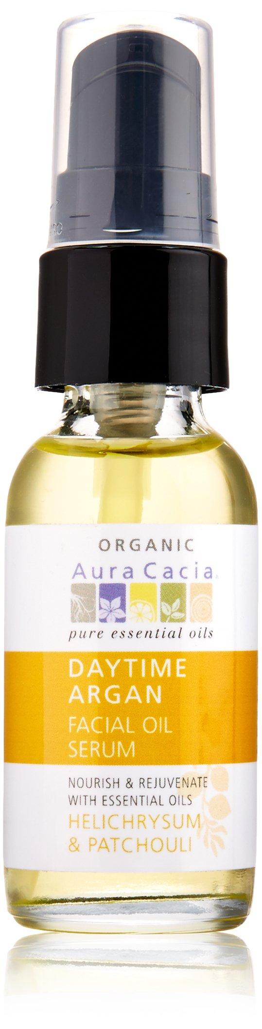 Aura Cacia Daytime Argan Facial Oil Serum, 1 Fluid Ounce