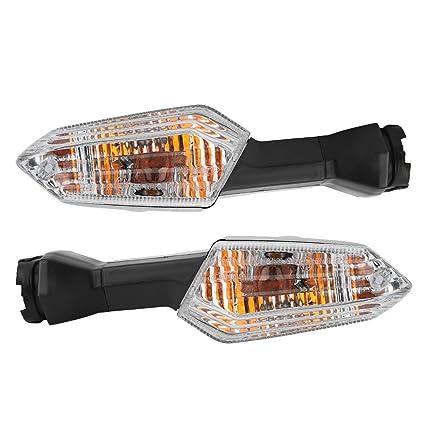 nosii 2 Piezas Motocicleta luz de señal de Giro Trasera ...