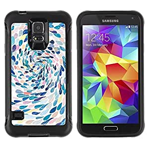 Suave TPU Caso Carcasa de Caucho Funda para Samsung Galaxy S5 SM-G900 / Swimming Abstract Art Metaphor / STRONG