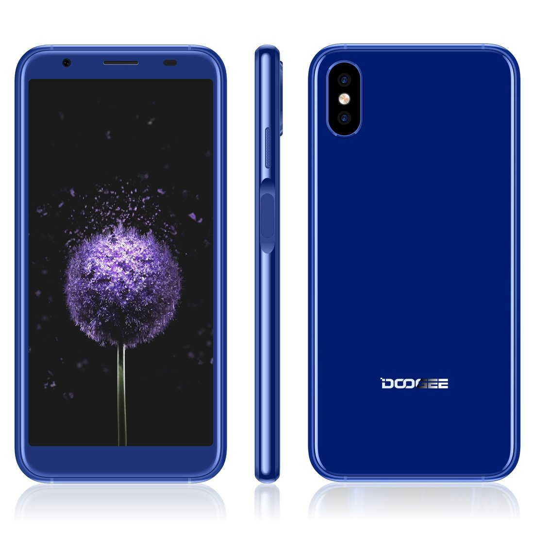 DOOGEE X55 1GB+16GB 5.5 inch Android 7.1 MTK6580 Quad Core up to 1.3GHz GSM & WCDMA (Blue)
