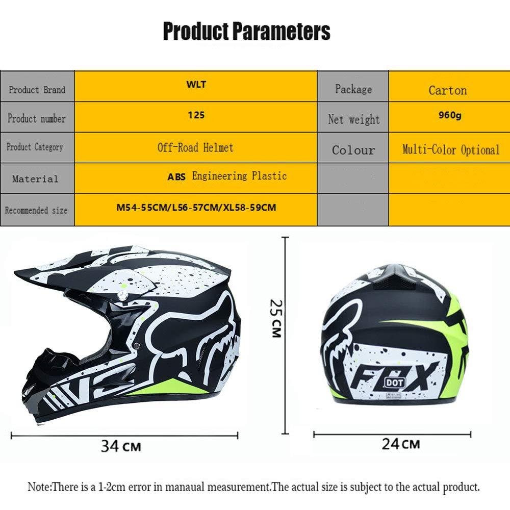,Blackorange,S55~56CM WanSheng Moto Motocross Moto Caschi e Guanti e Occhiali D.O.T Standard Bambini Quad Bike ATV Go Karting Casco S, M, L, XL