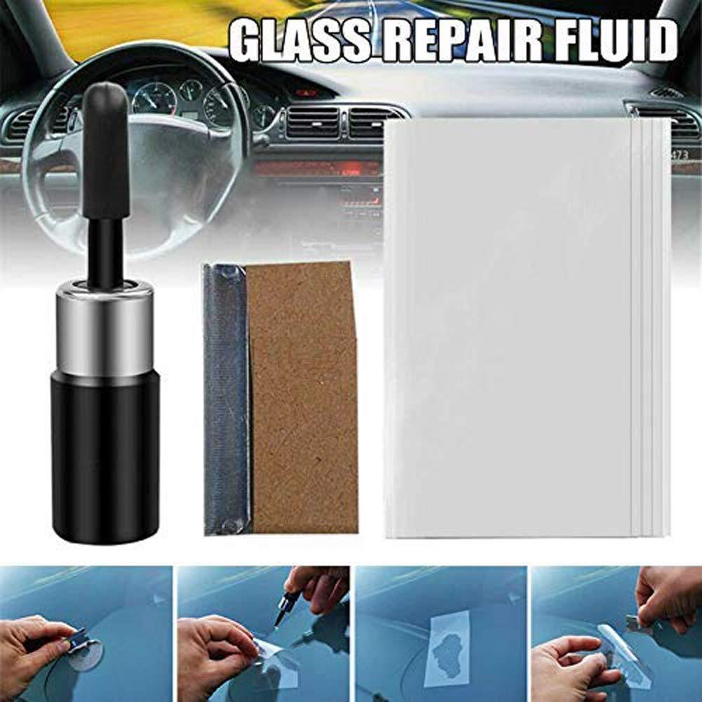 Kit per Strumenti Fai-da-Te di Riparazione del Parabrezza in Resina con fessurazioni in Vetro LZEN Kit di Strumenti di Riparazione fluidi per Riparazione Nano di vetri per autoveicoli