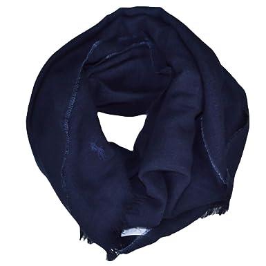 Ralph Lauren Echarpe luxueuse bleu marine en lin et laine pour homme  Amazon .fr  Vêtements et accessoires b30dc69a2d9