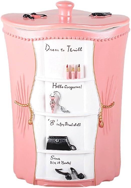 LPZ: Cubo de Basura de Resina Rosa de 4 litros, Caja de Almacenamiento, Caja de Flores, Estuche cosmético, multifunción, Cesta de Papel, LPZV: Amazon.es: Hogar