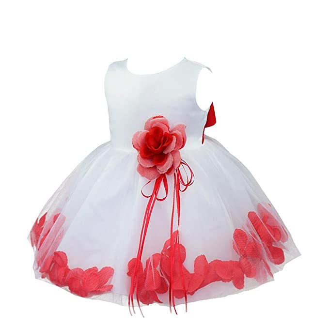 c9204a31acaa TiaoBug Baby Girls Flower Petals Tulle Formal Bridesmaid Wedding ...