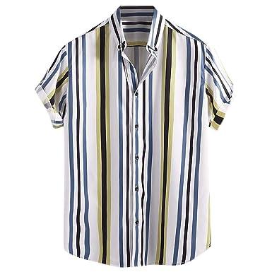 Aiserkly - Camisas de Manga Corta para Hombre con Botones de ...