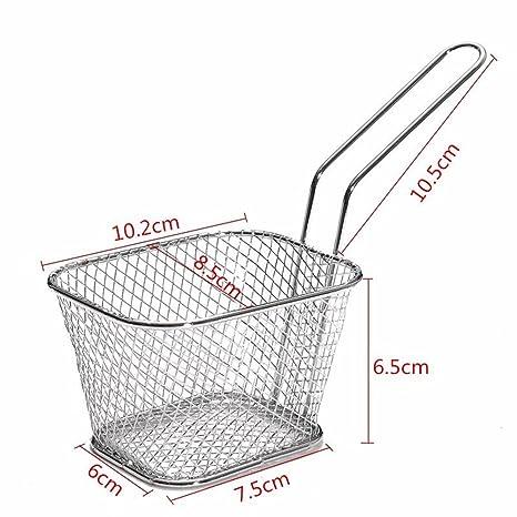Compra 8pcs/lot acero inoxidable Mini cesta de la freidora Chips ...