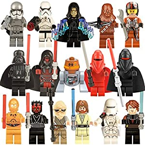 Star Wars Figures 16pcs set Action Minifigure Lego-compatible figures Kid Baby Toy Mini Figure Building Blocks Sets Model Toys Minifigures Brick