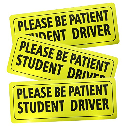 Advgears Set of 3 Student Driver Stickers Magnet Car Safety Signs - Car Vehicle Reflective Sign Sticker Bumper for New Driver