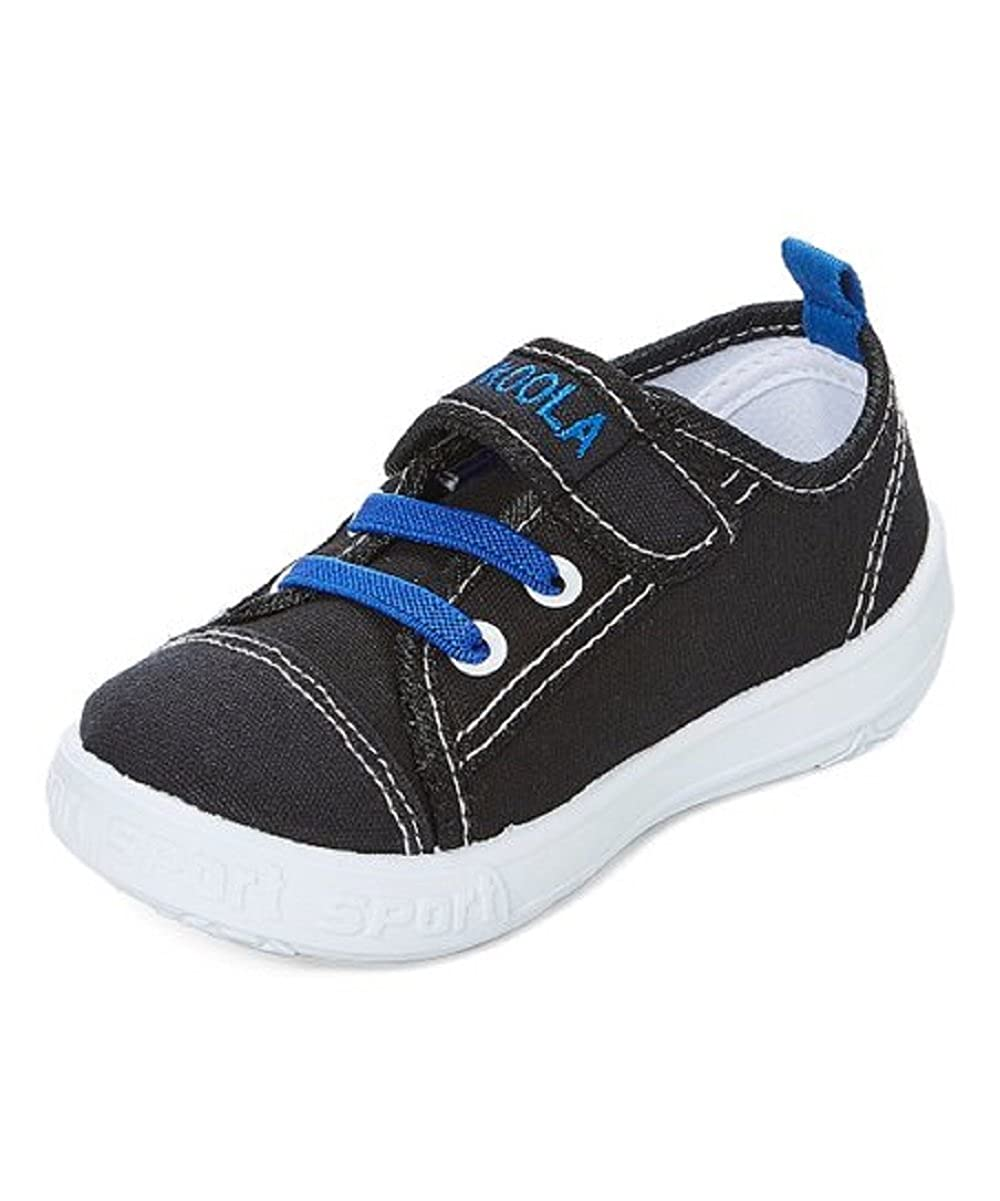 Kukoola Boys Black /& Blue Stitch-Trim Sneaker,Black Blue,6 T