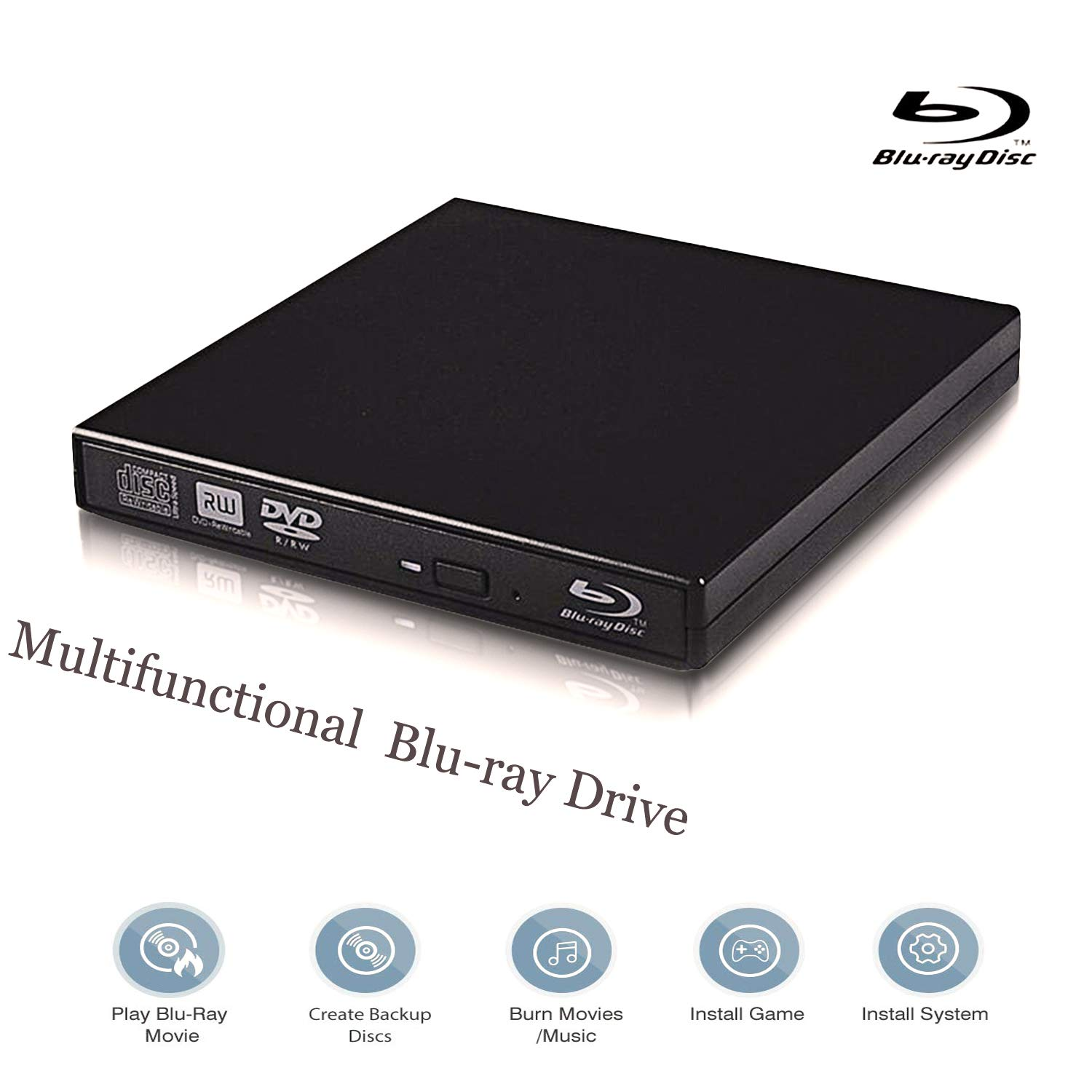 Desktop m-disc supported blu-ray burner with no pc required.