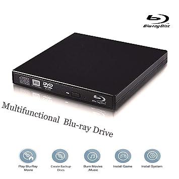 Amazon. Com: external blu-ray dvd drive portable usb 3. 1 type-c usb.
