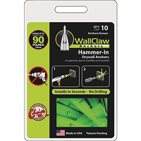 HomeDone Drywall Anchor 100-Pack Hollow Wall Anchors with Screws