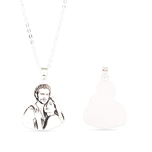 Image Unavailable. Image not available for. Color  Personalized Photo  Necklace ... 70243cb73c