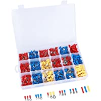 ValueHall 1200pcs Crimp terminals with Portable Storage Box, widely Application Heat Shrink Crimp Connector Wire…