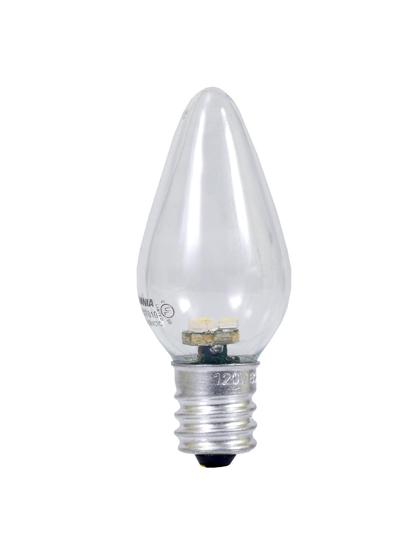 Pack of 2 X2306 Sylvania 78563 0.6 Watt Accent LED C7 Night Light Bulb