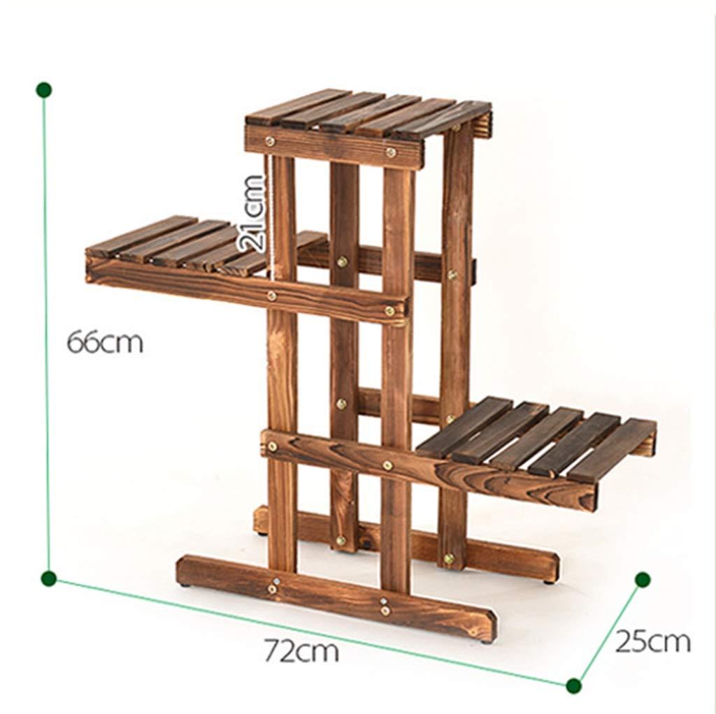 l'intera rete più bassa G-ZWJXX Flower Ladder Ladder Ladder Rack with 3 Tiers Bonsai Porta Fiori in Legno per Interni Ed Esterni Adatto per Una varietà di Scene  vendita di offerte