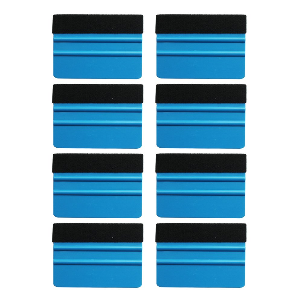 Professional Scratch free Squeegee EEFUN Durable Black Felt Edge Squeegee 4 Inch for Car Vinyl Film Wrapping Decal Squeegee Window Tint Work Pack of 8