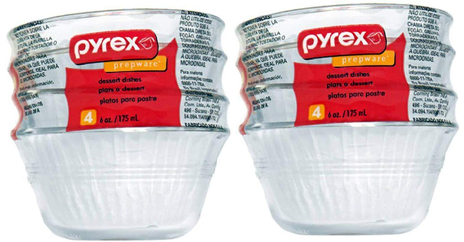Pyrex 6-Ounce Custard Cups, Set of 4 (2) by Pyrex