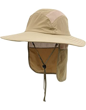 88e2628773edf Home Prefer Mens UPF 50+ Sun Protection Cap Wide Brim Fishing Hat with Neck  Flap