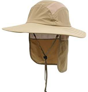 33206a66c71 Home Prefer Mens UPF 50+ Sun Protection Cap Wide Brim Fishing Hat with Neck  Flap