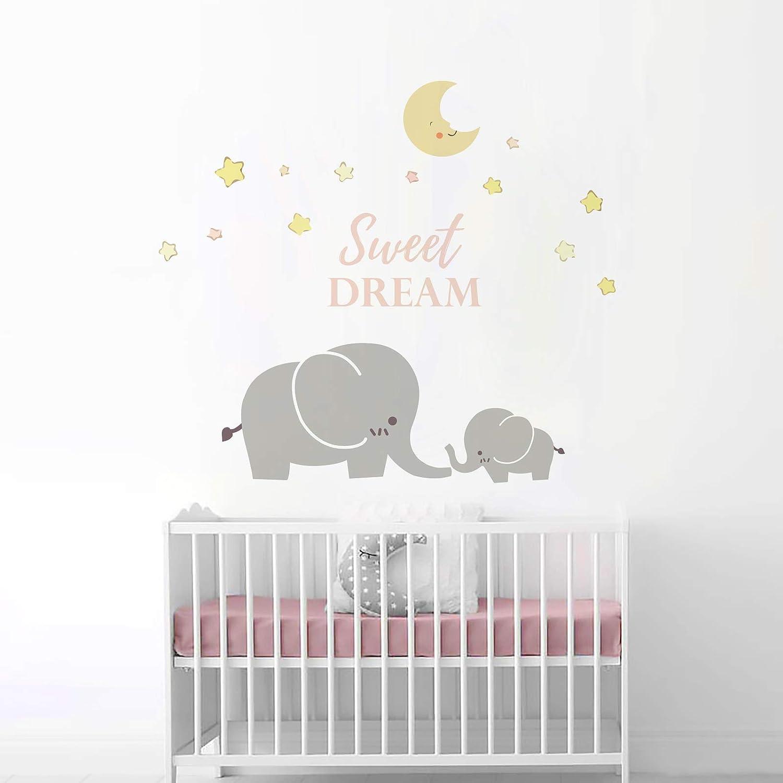 Elephant Wall Decal Set Child/'s Room Decor Bedroom Decor Elephant Wall Stickers
