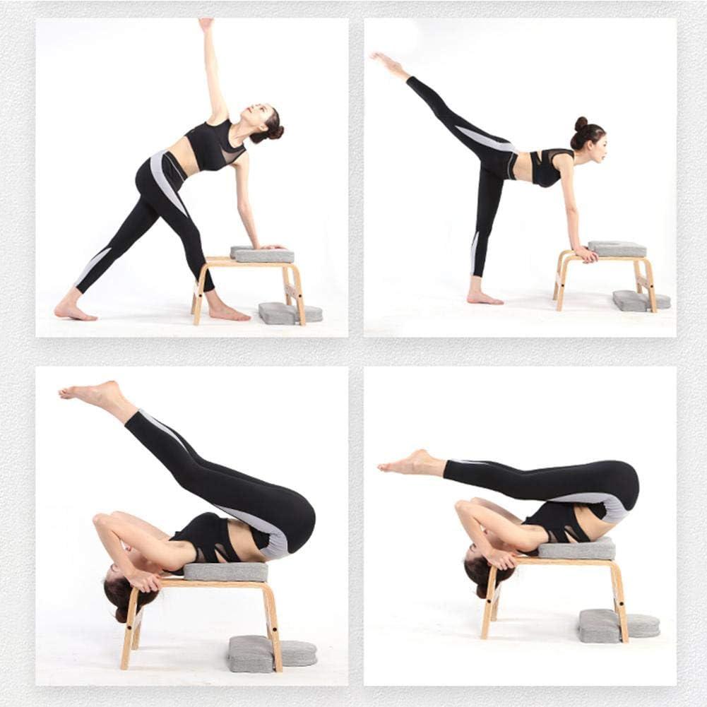 Banc Yoga Chaise Inversion Yoga Multifonctionnel Support de t/ête de Tabouret de Yoga pour Pratique de Yoga pour Famille Gymnase Createjia Tabouret dinversion de Yoga
