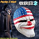 2288 NEWHot sale Halloween Party day resin mask Payday 2 cosplay top grade resin clown mask clockwork men party masks holiday supplies