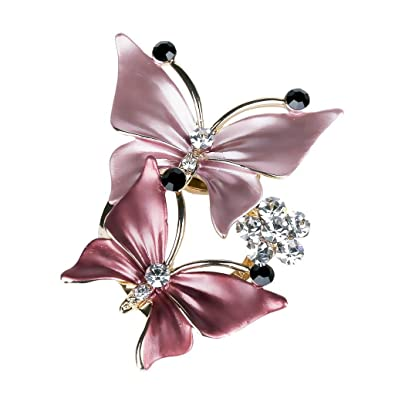 Merdia Elegant Butterfly Brooches Pins For Women   Pink [Jewelry]