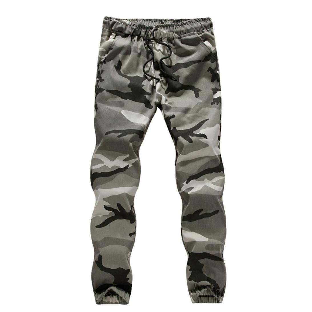 616c1419dbd Men Pants Daoroka Camouflage Plus Size Pockets Elastic Waist Baggy Trousers  Tracksuit at Amazon Men s Clothing store