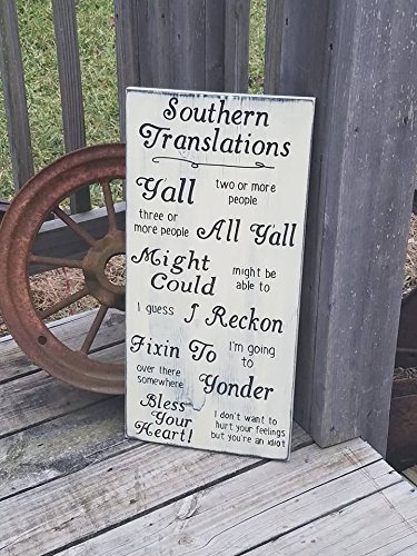 Ruskin352 Southern Translation Sign Southern Wall Sign Southern Wall Decor Definitions For The South Wooden Sign Southern Heritage Plaque