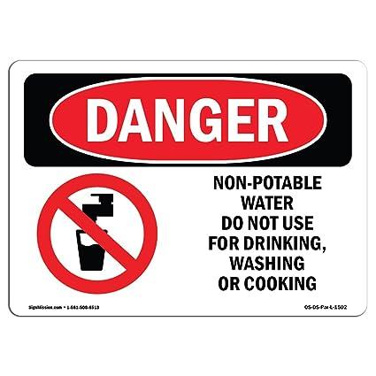 Señal de Osha Danger - no apto para agua potable, no ...