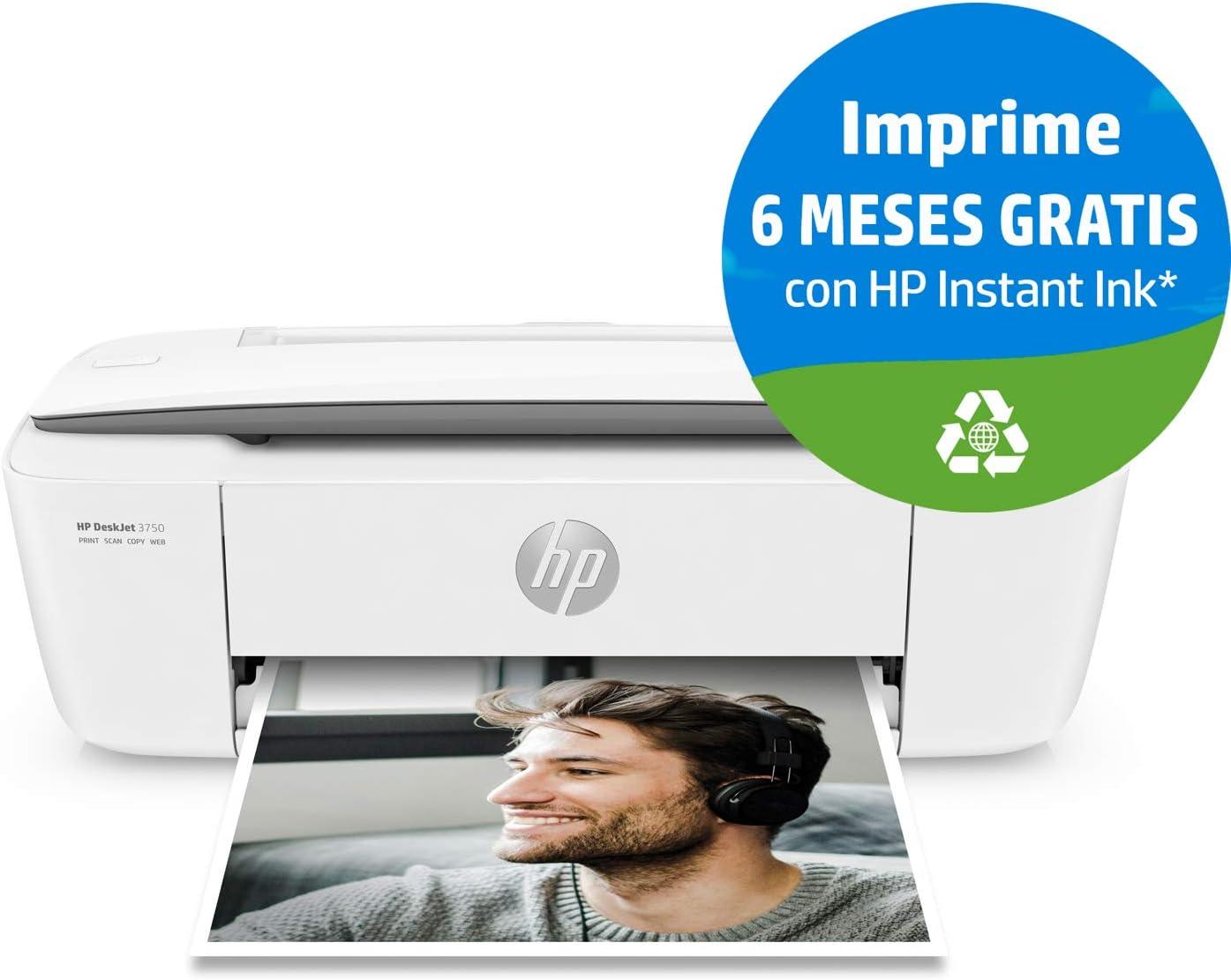 HP DeskJet 3750 - Impresora de tinta multifunción (8 ppm, 4800 x ...