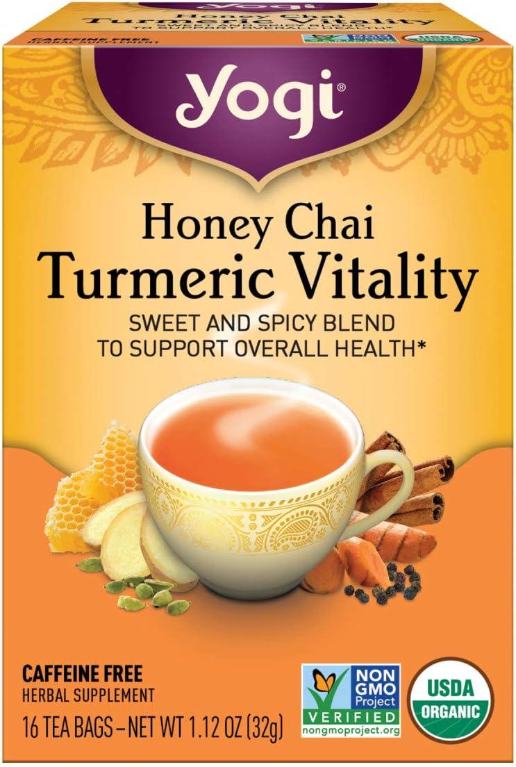 Yogi Tea, Honey Chai Turmeric Vitality, 16 ct