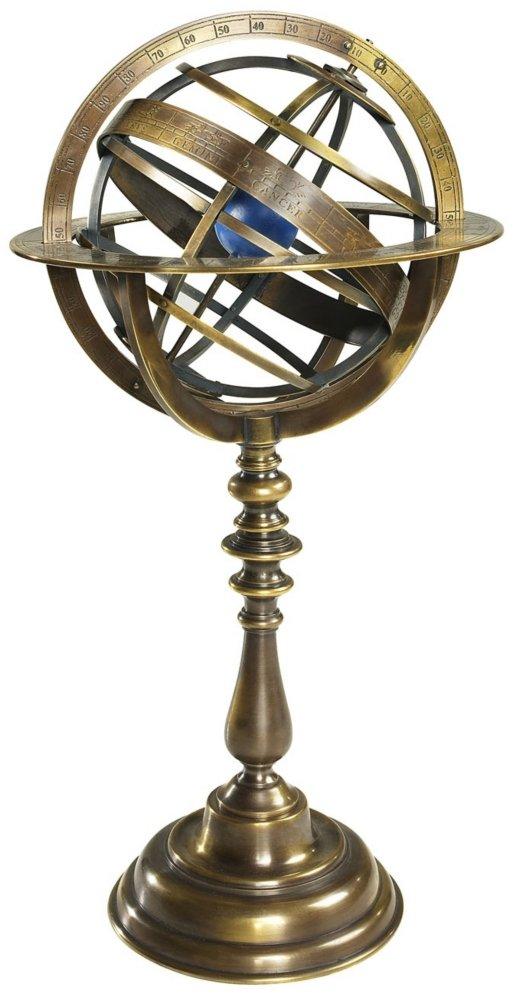 Authentic Models GL052 -Bronze Sonnenuhr - Armillarsphaere bronze - Luxusausgabe HÖhe 36 -5 cm Ø 18 -5 cm