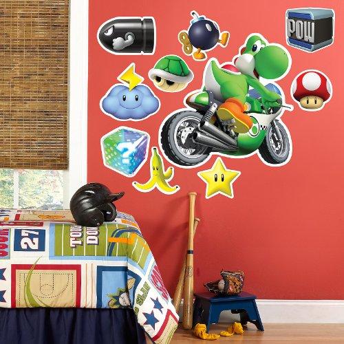 Kart For Mario Costumes Girls (Mario Kart Wii Yoshi Giant Wall)