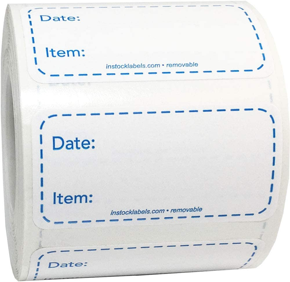 Removable Food Labels for Home Use and Canning 1 x 2 Inch 500 Total Adhesive Stickers On A Roll