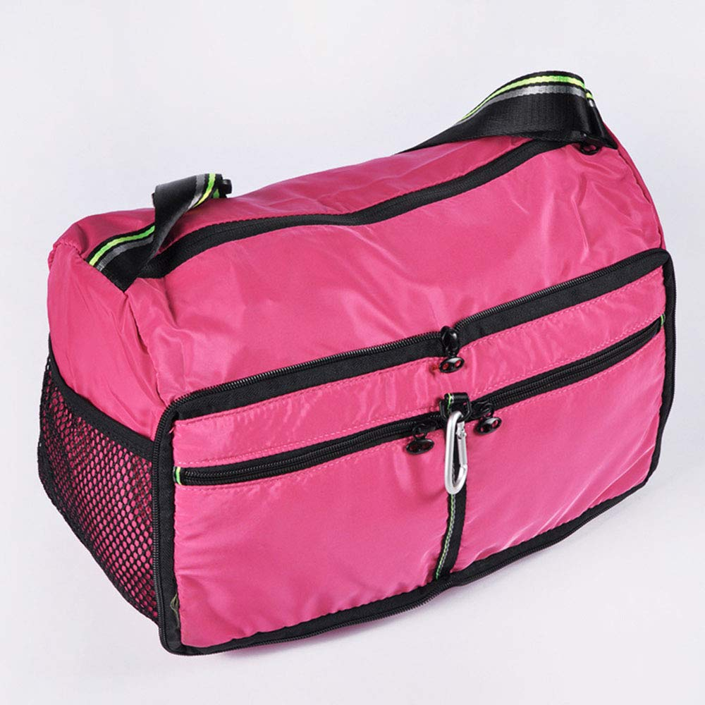 Balalafairy-lug Portable Tote Holdall Bag Duffels Womens Backpack Waterproof Lightweight Leisure Travel Outdoor Folding Sports Bag Carry-on Luggage Bag for Overnight Trip Gym Sport Color : Pink