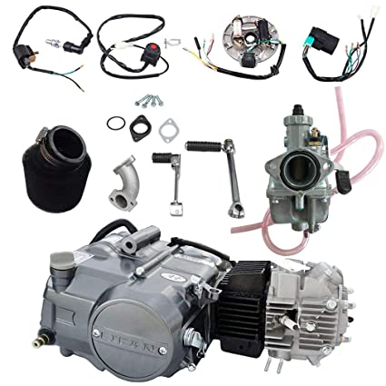 wphmoto lifan 125cc engine motor & air filter & 26mm carburetor & wire  harness wiring kit