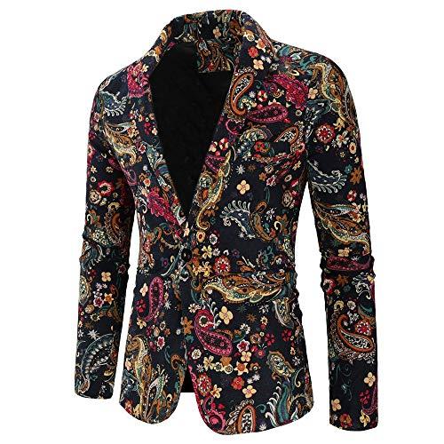 MAYOGO Jas mannen vintage pak colbert met één knoop, pak heren slim fit 2018 mode retro winter verkoop jas mantel…