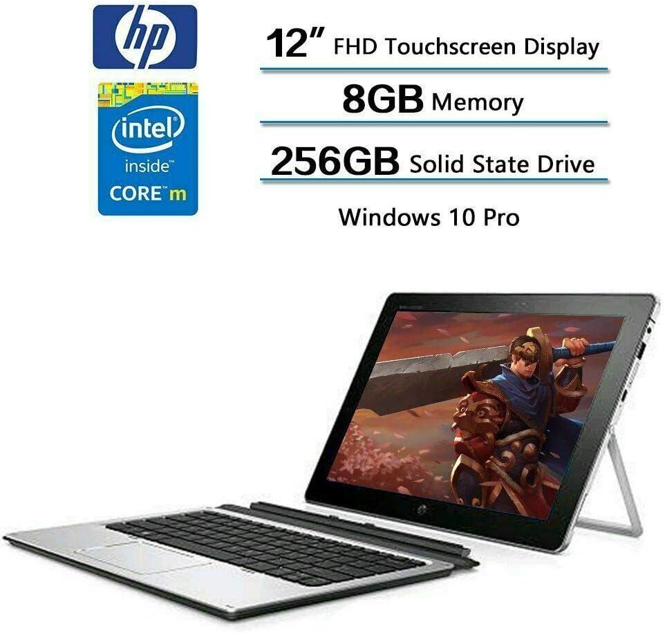 "HP Elite X2 1012 G1 Detachable 2-in-1 Business Tablet Laptop - 12"" FHD IPS Touchscreen (1920x1280), Intel Core m5-6Y54, 256GB SSD, 8GB RAM, Windows 10 Pro (Renewed)"