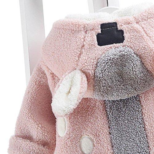 Omiky® Baby-Säuglingsbär-Herbst-Winter-mit Kapuze Mantel-Mantel-Jacke-starke warme Kleidung Rosa