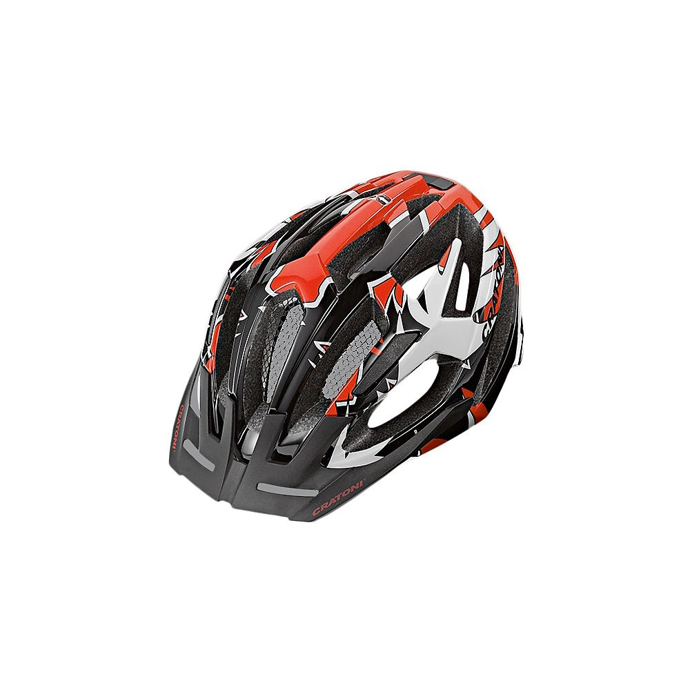 Cratoni MTB Helm C-Flash schwarz-ROT glossy Mountainbikehelm Offroad Helm