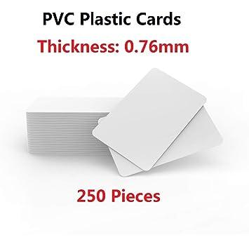 Timeskey La Mejor En Blanco de Plástico PVC Tarjetas de ...