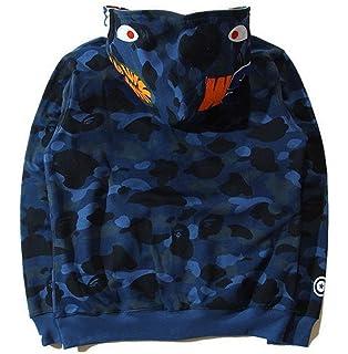 d730e0ac Bathing Ape Bape Shark Jaw Camo Full Zipper Hoodie Men's Sweats Coat Jacket