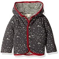 Burt's Bees Baby Baby Organic Snap Front Reversible Jacket, Coal Heather, 3-6...