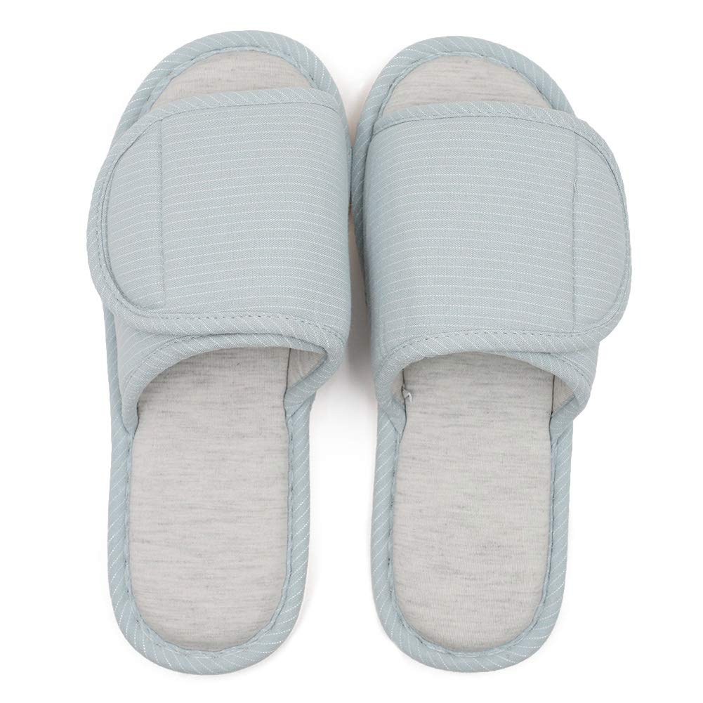 3f73c10f87e9b TARA SHOES Adjustable Open Toe Cotton Slippers - Extra Wide Diabetic Edema  Slippers Fit for Men & Women