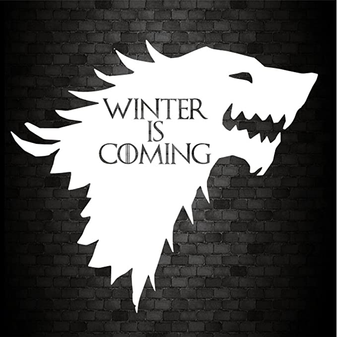 Autoaufkleber Für Die Stoßstange Winter Is Coming House Of Stark Aus Game Of Thrones Jdm Pvc Vinyl Auto