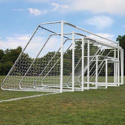 Image of Alumagoal 3' Classic 4' X 6' White Goalposts